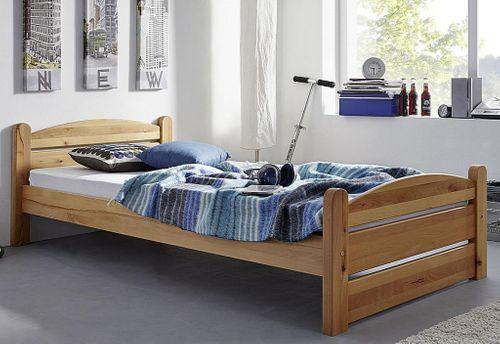 Bett 180x200 Vollholz Doppelbett Buche Theo Kernbuche massiv geölt – Bild 2