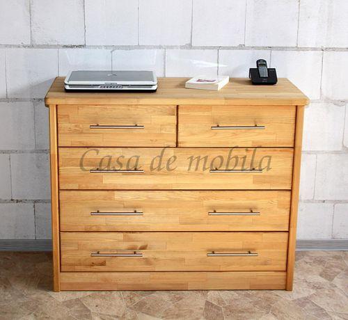 Schubladenkommode Holz gelaugt geölt Wäschekommode Kiefer massiv astfrei – Bild 2