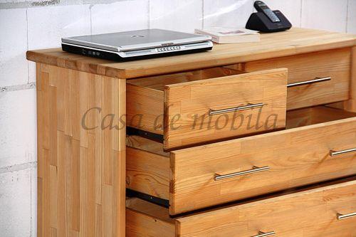 Schubladenkommode Holz gelaugt geölt Wäschekommode Kiefer massiv astfrei – Bild 5