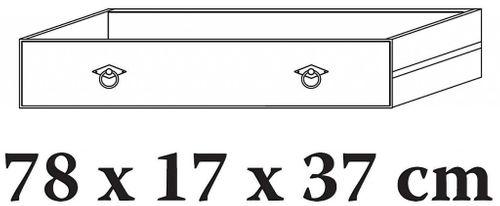 TV-Kommode 185x70x45cm Lowboard 2 Türen 2 Schubladen Kiefer goldbraun lackiert honigfarben – Bild 5