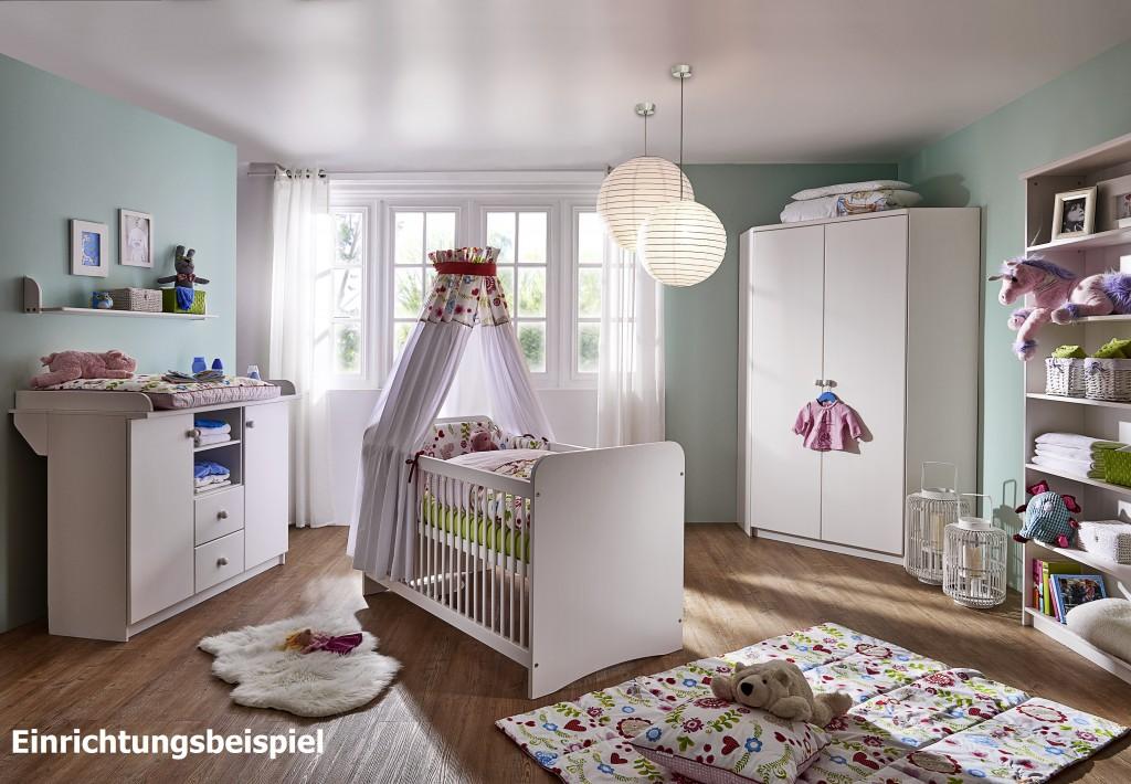 babybett 70x140 kiefer massiv wei lackiert. Black Bedroom Furniture Sets. Home Design Ideas