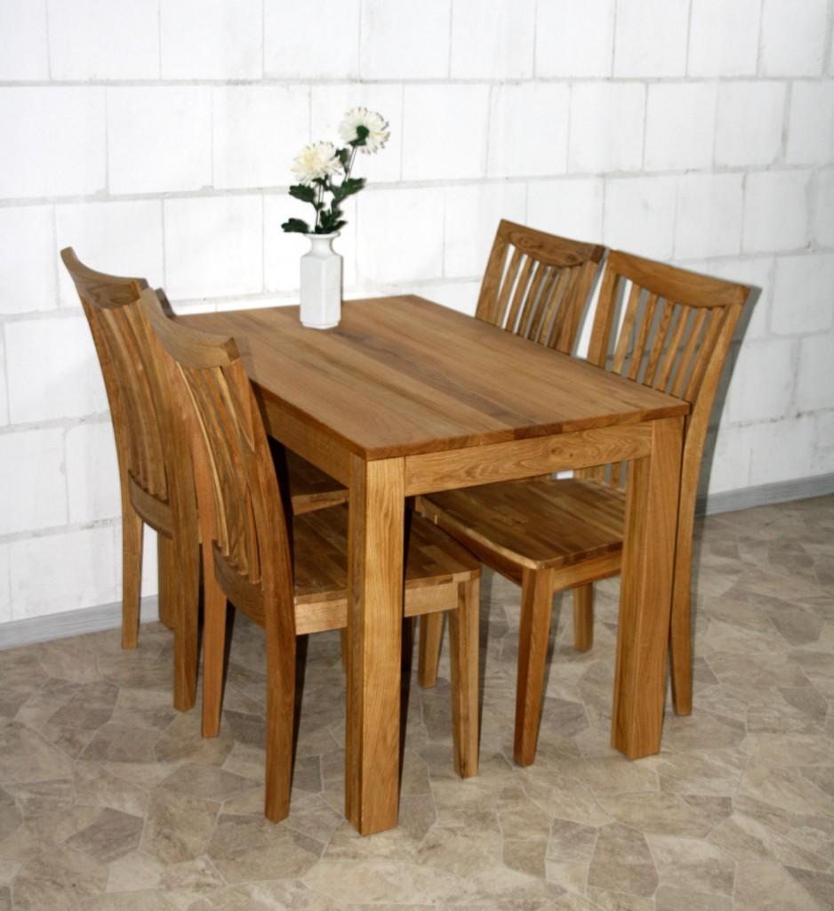 esstisch 110x75x70cm wildeiche massiv ge lt. Black Bedroom Furniture Sets. Home Design Ideas