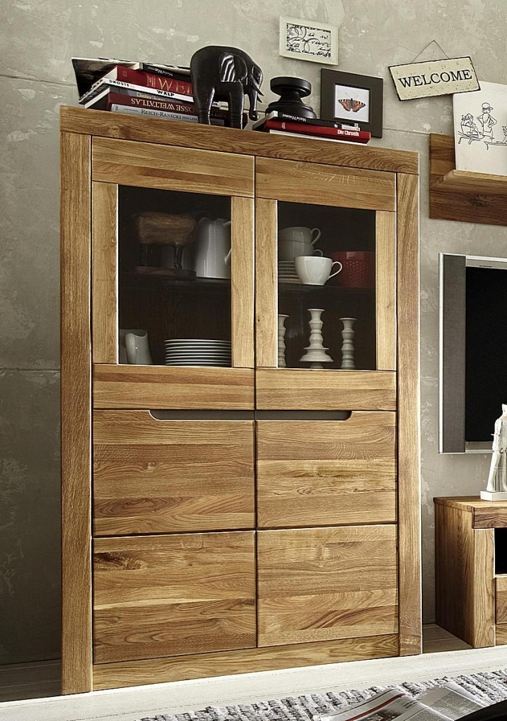 highboard wildeiche kernbuche natur ge lt vitrine holz massiv. Black Bedroom Furniture Sets. Home Design Ideas