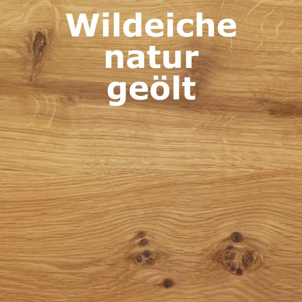 Wildeiche Natur Geolt ~ Highboard cm holztüren glastüren