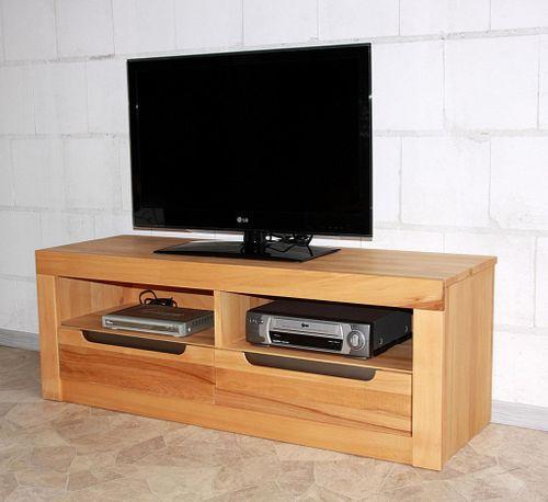 TV-Kommode Kernbuche natur geölt Lowboard Holz massiv – Bild 2