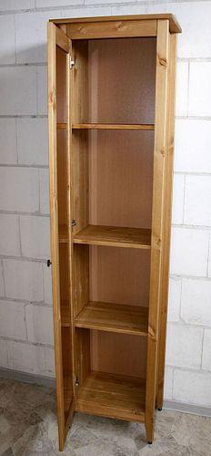 Bad-Hochschrank Kiefer gelaugt geölt Badschrank Spiegel Holz massiv – Bild 4