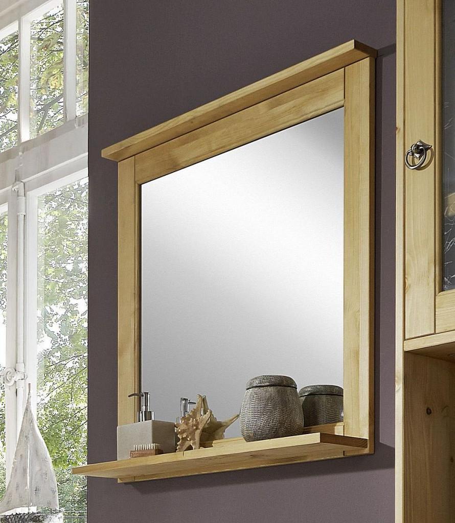 Badmöbel-Set Kiefer gelaugt geölt Badezimmer-Möbel Holz massiv 3teilig – Bild 4
