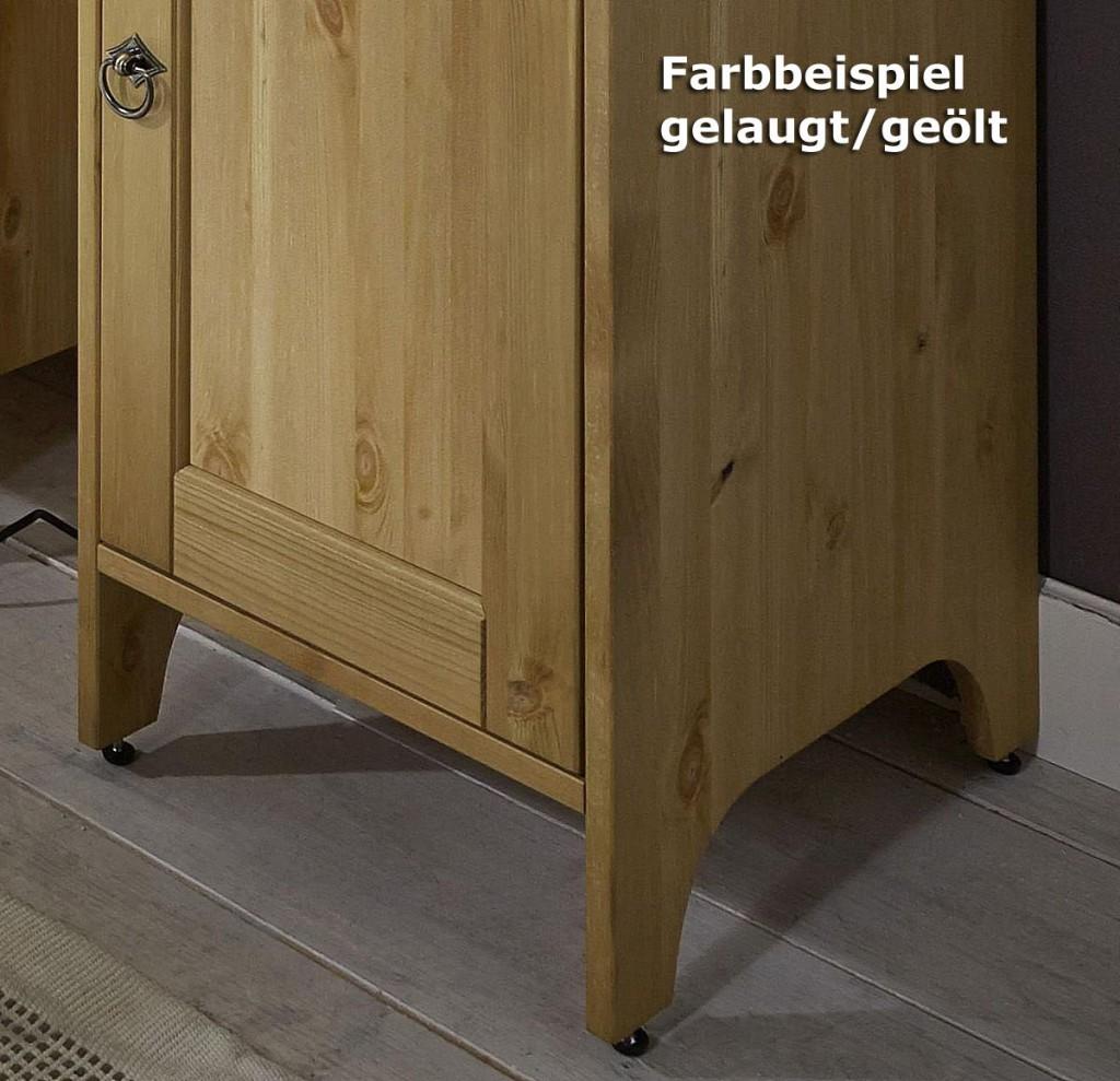 spiegelschrank 39x74x16cm mit handtuchhalter kiefer massiv. Black Bedroom Furniture Sets. Home Design Ideas
