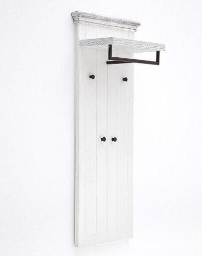Garderobenpaneel Recycling-Kiefer  weiß vintage Garderobe shabby-chic – Bild 2