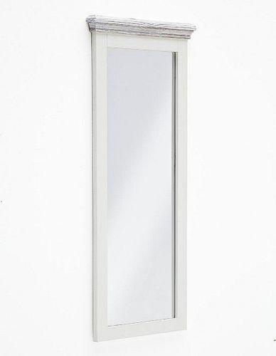 Wandspiegel 59x145 Recycling-Kiefer weiß vintage Flurspiegel shabby-chic – Bild 1