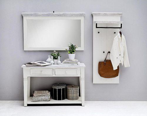 Dielen-Set 3teilig Recycling-Kiefer weiß vintage Dielenmöbel shabby-chic – Bild 2
