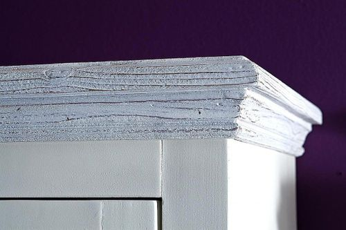 Dielen-Set 3teilig Recycling-Kiefer weiß vintage Dielenmöbel shabby-chic – Bild 5