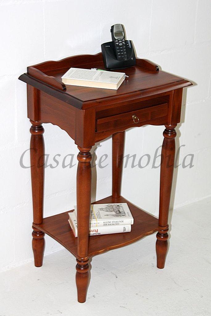 Konsolentisch Telefontisch Beistelltisch Massivholz Kirschbaumfarbe
