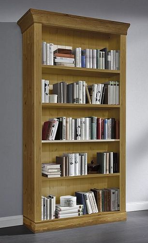 Bibliothek Kiefer Regalwand Standregale Vollholz massiv Bücherregal – Bild 5