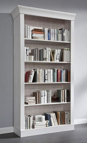 Bibliothek Kiefer Regalwand Standregale Vollholz massiv Bücherregal – Bild 2