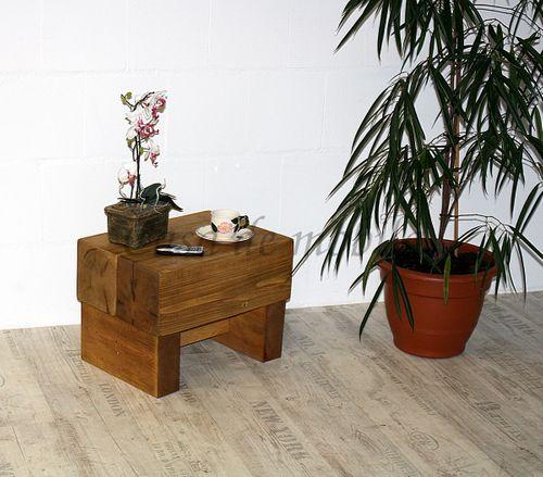 Nachttisch BRUS / FJORD 50x36x36cm Nachtkonsole Kiefer massiv Holz Unikat antik – Bild 6