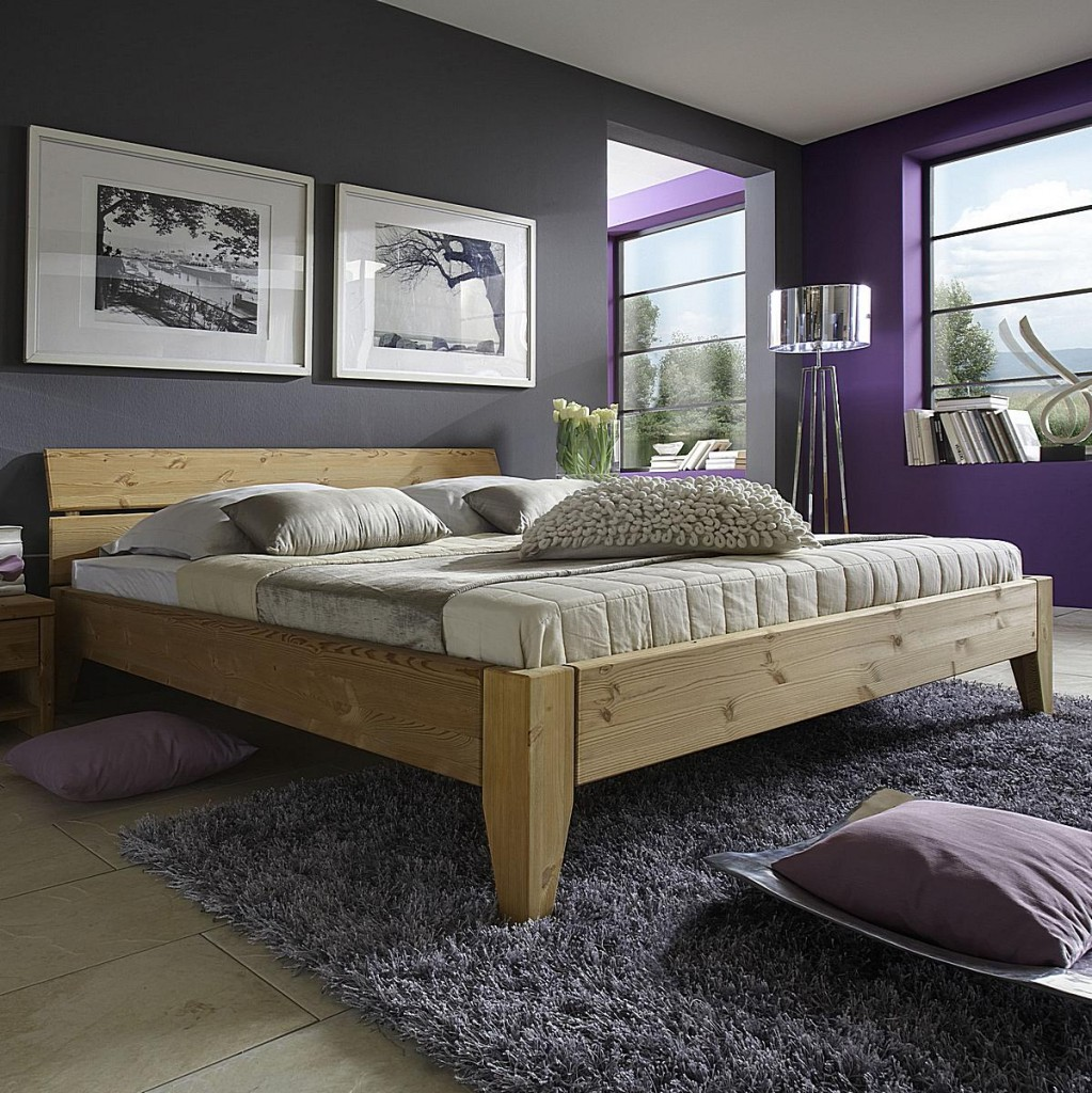 bett 140x200 beine 2 komforth he kopfteil 2 kiefer gelaugt ge lt. Black Bedroom Furniture Sets. Home Design Ideas