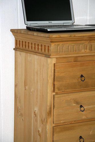 Schubladenkommode Wäschekommode Vollholz Kiefer massiv gelaugt geölt – Bild 7