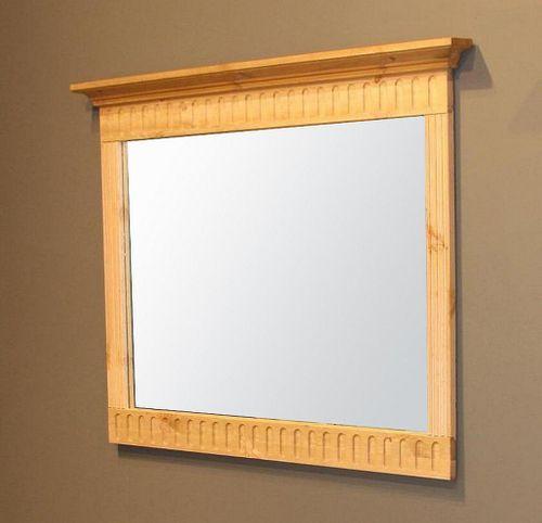 Spiegel 105x86 Wandspiegel Dielenspiegel Vollholz Kiefer massiv gelaugt geölt – Bild 1