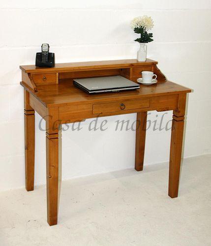 Massivholz Computertisch Bürotisch Sekretär Honigfarbe  – Bild 2