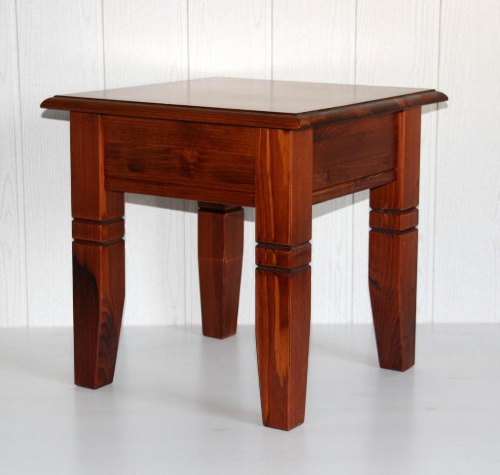 Massivholz couchtisch 45x46x45cm kirschbaumfarben lackiert for Massivholz couchtisch