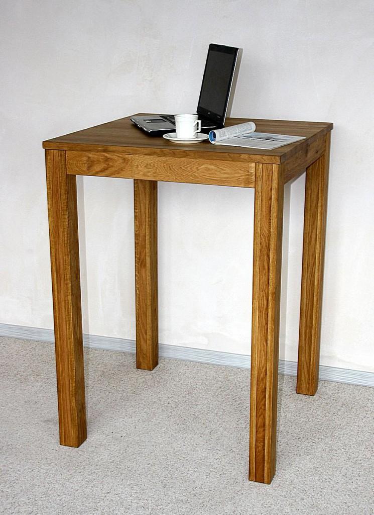 bartisch 80x110x80cm wildeiche massiv ge lt. Black Bedroom Furniture Sets. Home Design Ideas
