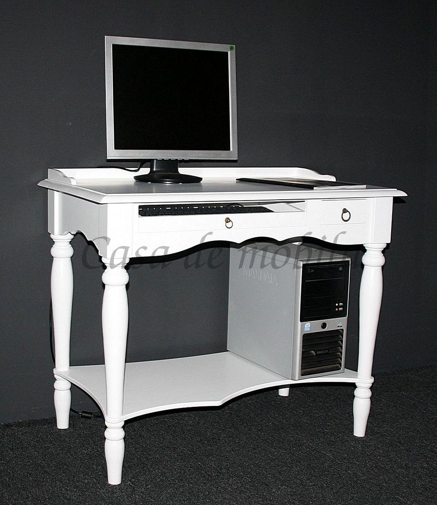 massivholz sekret r wei mit tastaturauszug b rotisch. Black Bedroom Furniture Sets. Home Design Ideas