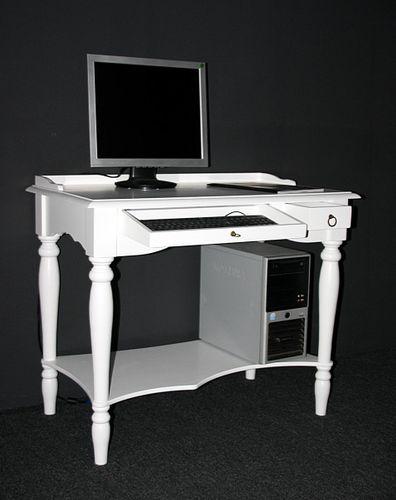 Sekretär VARESE 100x80x60cm Massivholz weiß Konsolentisch lackiert  – Bild 2