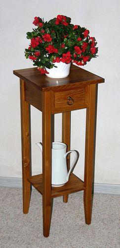 Massivholz Beistelltisch Blumentisch Blumenhocker 80cm Fichte honig – Bild 1