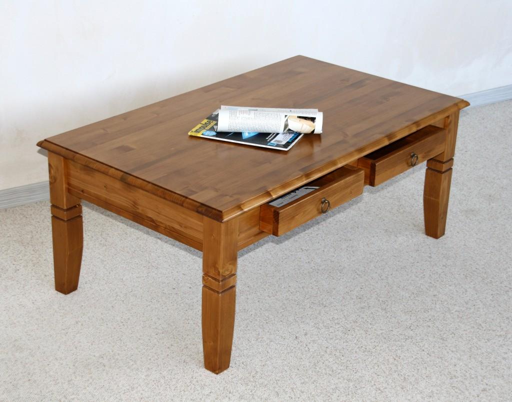 Couchtisch 110x46x65cm, 2 Schubladen, Tischplatte abgerundet ...