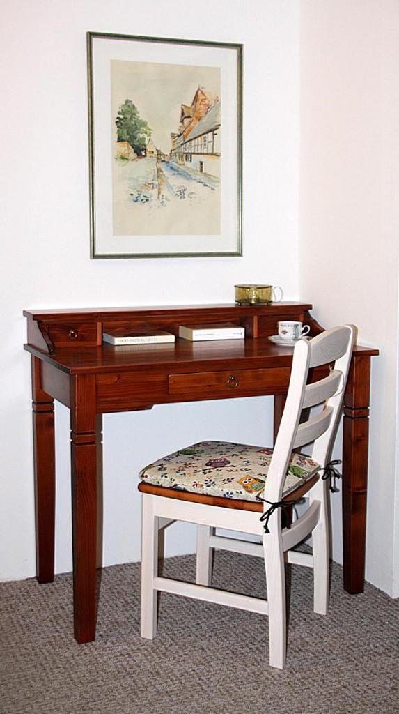Massivholz Sekretär Schreibtisch Kirschbaumfarbe – Bild 7