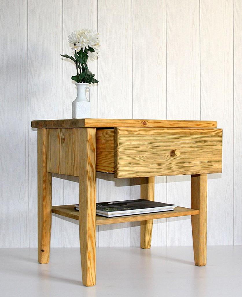 nachtkonsole nr 3 1 schublade kiefer gelaugt ge lt. Black Bedroom Furniture Sets. Home Design Ideas