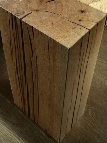 Massivholz Doppelbett 180x200 Balkeneiche geölt – Bild 3