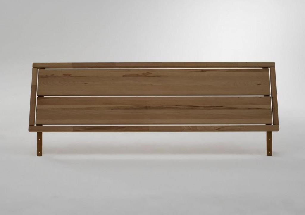 Schubladenbett 200x200 Seniorenbett Komforthöhe Vollholz Kernbuche massiv geölt – Bild 2