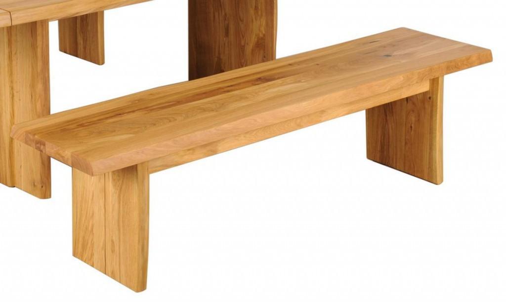 sitzbank 220x46x40cm baumkante holzf e wildeiche massiv ge lt. Black Bedroom Furniture Sets. Home Design Ideas