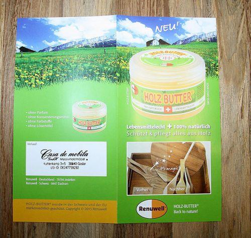 Renuwell Holzbutter Möbelpflege Holzpflege 250 ml – Bild 6