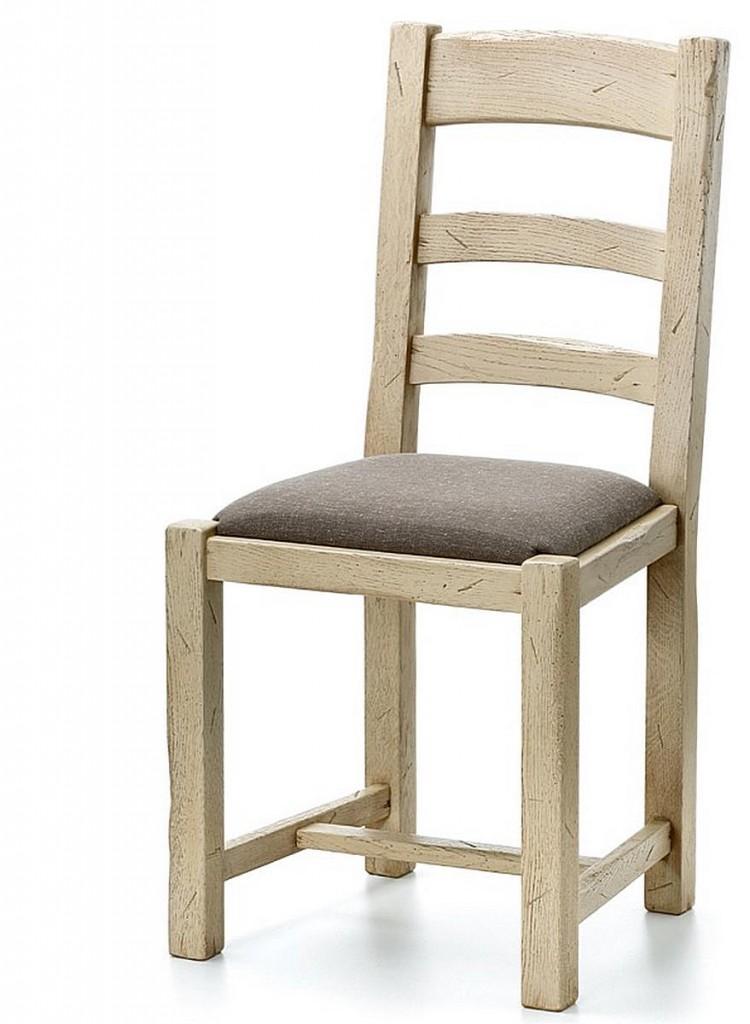 Eßzimmer Stuhl Mit Polstersitz Eiche Massiv NEU Holz