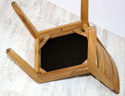 Polster-Stuhl Wildeiche mit Kunstlederbezug braun Esszimmerstuhl Eiche – Bild 5
