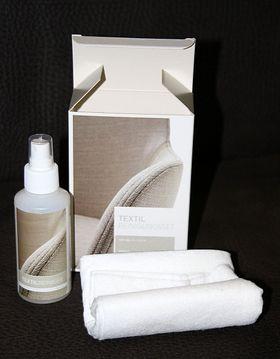Textil-Reinigungsset mit Reinigungsspray und Tüchern Textil-Pflegeset 001