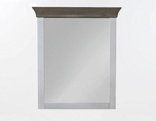 Dielenspiegel 87x97 Kiefer 2farbig weiß grau Schlafzimmerspiegel Wandspiegel – Bild 2