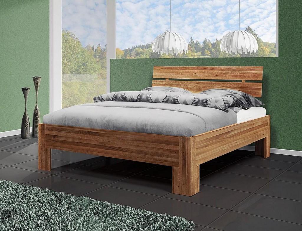 bett 140x200 doppelbett holzbett wildeiche ge lt. Black Bedroom Furniture Sets. Home Design Ideas