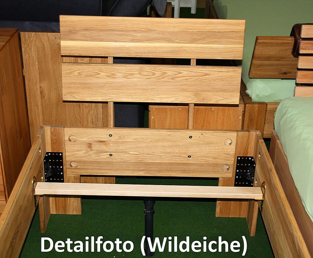 doppelbett 180x200 holzbett bett wildeiche ge lt. Black Bedroom Furniture Sets. Home Design Ideas