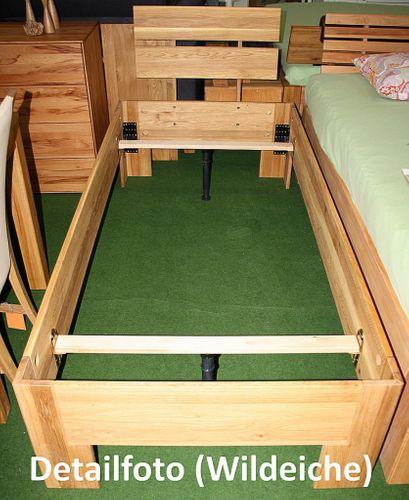 Doppelbett 180x200 Holzbett massiv Vollholz Bett Wildeiche geölt – Bild 5