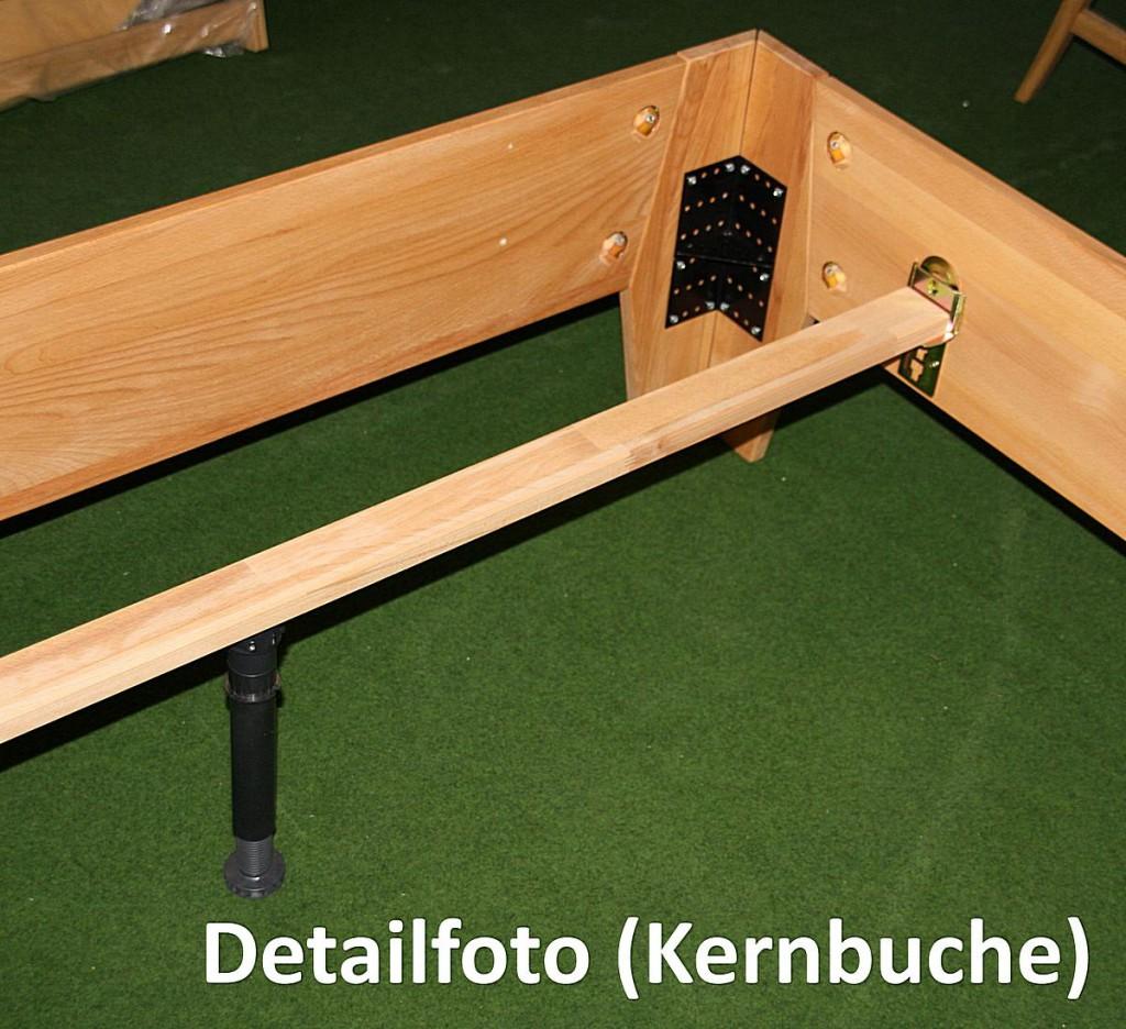 Doppelbett 180x200 Eichebett Vollholz massiv Bett Wildeiche geölt – Bild 6