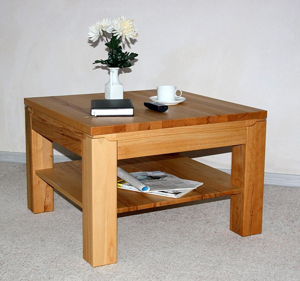 couchtisch 100x48x100 mit ablageboden kernbuche ge lt. Black Bedroom Furniture Sets. Home Design Ideas