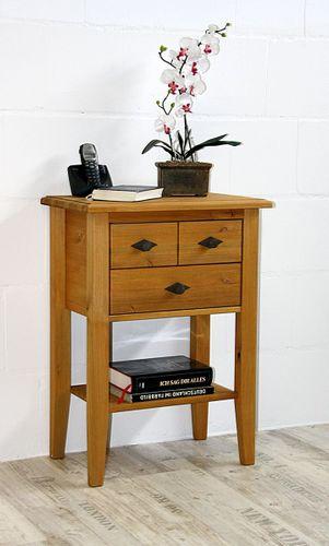 Telefontisch Konsolentisch 2 Schubladen Kiefer massiv gelaugt geölt – Bild 5