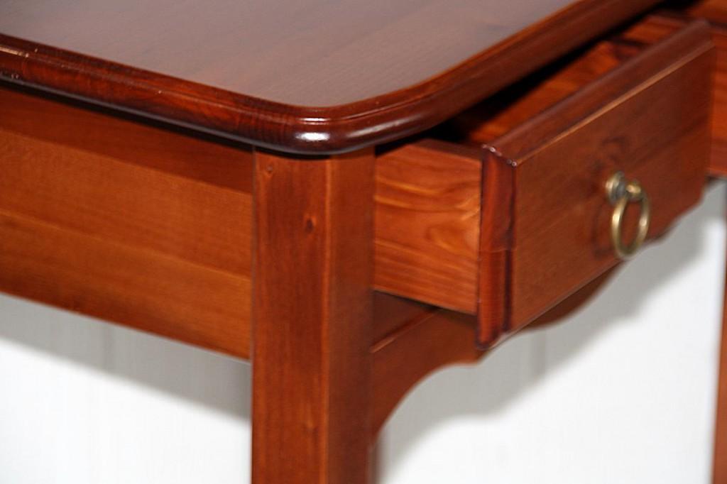 Nachttisch 57x61x36 2 schubladen pappel massiv for Beistelltisch vollholz