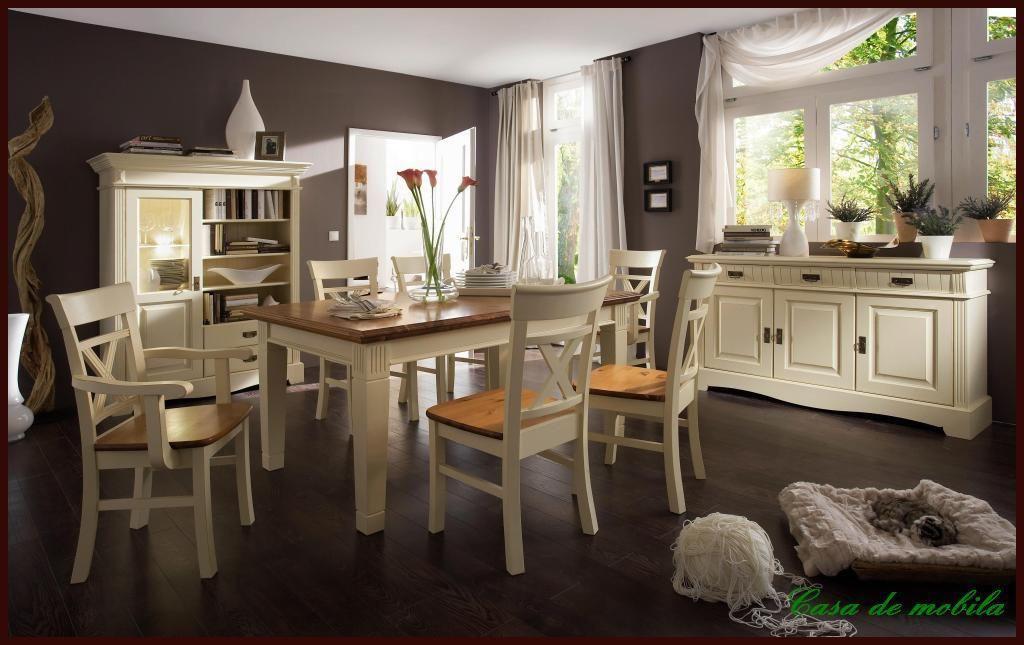 Armlehnstuhl mit Holzsitz, Kiefer massiv 2farbig champagnerfarben/goldbraun lackiert – Bild 3