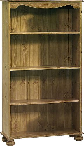Standregal 76x134x27cm Bücherregal Kiefer massiv gebeizt lackiert