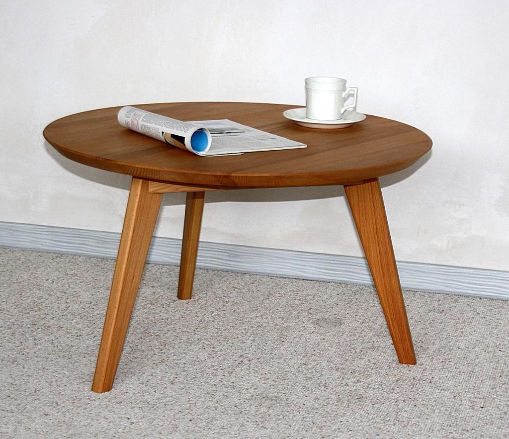 couchtisch rund 70cm sofatisch kernbuche massiv ge lt. Black Bedroom Furniture Sets. Home Design Ideas